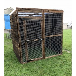Waterproof Chicken Run 6ft x 6ft 16G Fox Proof Dog Enclosure