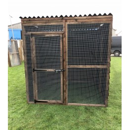 Waterproof Chicken Run 6ft x 6ft 16G Fox Proof Dog Cat Enclosure
