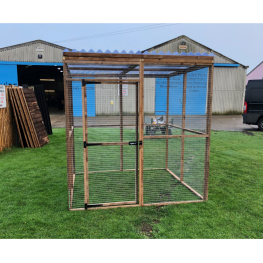 Bird Aviary 6ft x 6ft 19G Chicken Run Budget Waterproof Enclosure