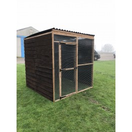 6ft x 6ft Run 3 Boarded Side Black Waterproof Roof 19G