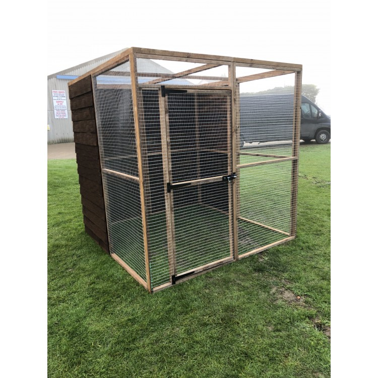 6ft x 6ft x 6ft high Aviary run Chicken - Rabbits - Puppy - Dogs ...