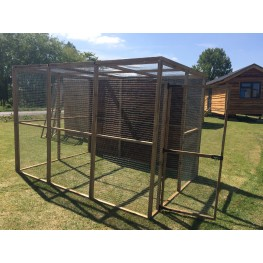Free Standing Walk in 6ft x 9ft Chicken Run Bird Aviary