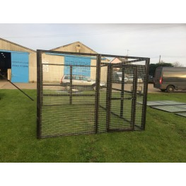 Chicken run 8ft x 12ft Chicken Fox Proof Pen Painted Black