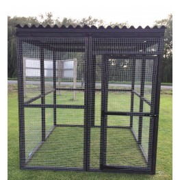 Black Waterproof 16G Outdoor 6ft x 6ft Animal Rabbit Chicken Dog Pen