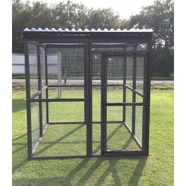 Waterproof 6ft x 6ft Black Animal Enclosure Cat Rabbit Chicken