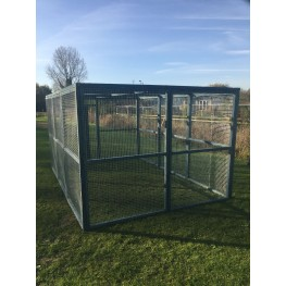 Chicken run 8ft x 12ft Chicken Fox Proof Cat Pen Painted Blue
