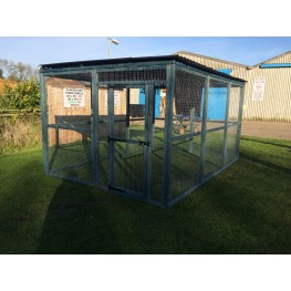 12ft x 8ft Blue Animal Run Black Waterproof Roof 16G