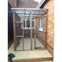 Catio / cat lean to 9ft wide x 8ft deep x 8ft tall clear waterproof roof