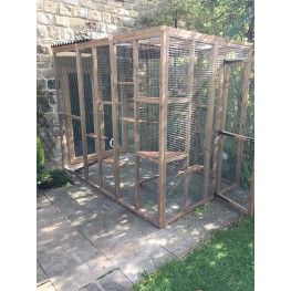 3 Sided Catio / Cat Lean to Play Pen 9ft long x 6ft wide