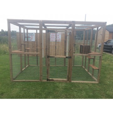 Cat House/ Play Pen Free Standing Cat Safe Enclosure 6x9ft