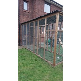 Catio / Cat Lean to 12ft x 4ft x 8ft Tall With Black Waterproof Roof