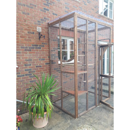 Catio / Cat Lean to 6ft x 4ft x 9ft tall clear waterproof roof