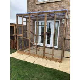 """Catio / Cat Lean to 6ft x 9ft x 7ft5"""" Waterproof Roof"""