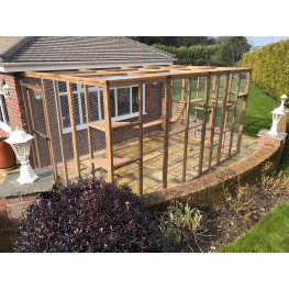 Catio / Cat Lean to 12ft x 8ft x 8ft Cat run