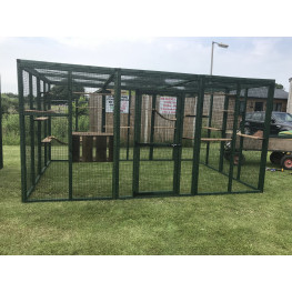 PVC Green Cat Play Pen Catio 8ft x12ft
