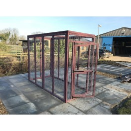 Free Standing Catio Cat Run 8ft x 4ft Shelves and Hammock Tower
