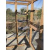 Free Standing Cat Run 6ft x 4ft Shelves and Hammock Tower Brown
