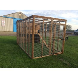 Cat Run With Raised Sleeping Box 6FT x 12FT