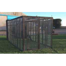Black Cat Run With Raised Sleeping Box 6ft x 14ft+