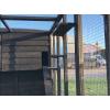 Black Cat Run With Raised Sleeping Box 6ft x 14ft+