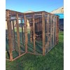 Cat Run With Raised Sleeping Box 6FT x 6FT With External Safety Door