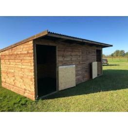 24ft x 12ft Animal Horse Field Shelter / Stable - Options of Skids, Overhang, Kickboards, Doors & More