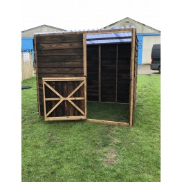 Animal Field Shelter With A Door And Clear Roof