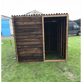 Animal Field Shelter With Front Panel.