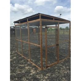 6ft x 9ft Run Made Of 9 Wire mesh panels + 1 door  + 3 sheet waterproof roof panels.